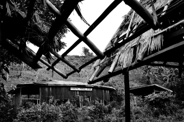 Canatuan Primary School has fallen into disrepair since the mines' arrival.