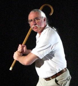 Batter Up! Ted Trescott walks quitely, but carries a big stick.