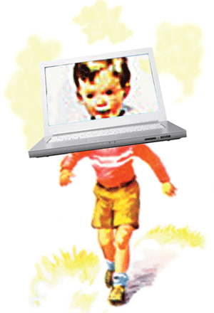 Generations see screens differently. Illustration by Dave Donald