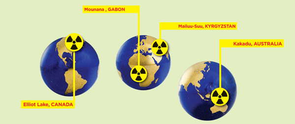 Uranium Spills around the world