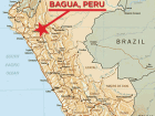Location of Bagua, Peru, site of a June 5, 2009 massacre of indigenous protesters by Peruvian police and military officers.