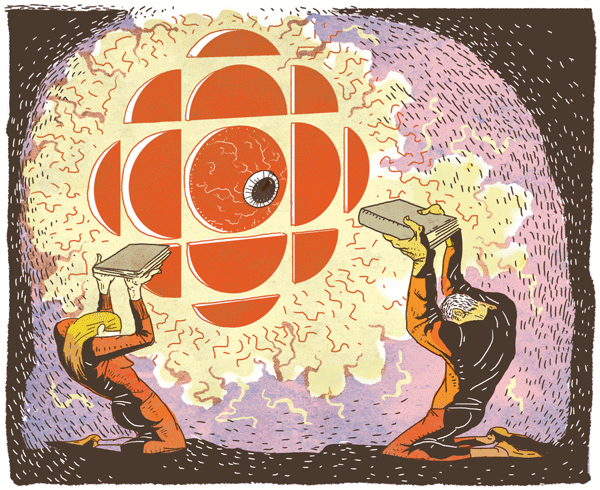 The CBC could be a force for CanLit. Why isn't it? Illustration by Dushan Milic