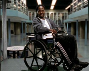 Agustus Hill had it easy, at least he had a wheelchair inside Oz. Real disabled inmates aren't so lucky. Image courtesy Home Box Office