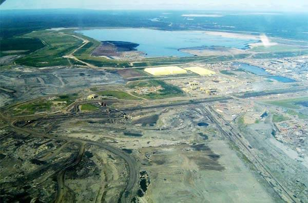 Syncrude's Mildred Lake mine site near Fort MacMurray.