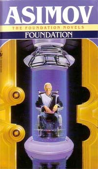 "Cover of Isaac Asimov's ""Foundation"" series."
