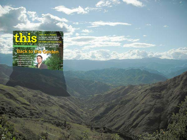 View from Sacred Sueños, outside Vilcabamba, Ecuador. Read Jenn Hardy's cover story on permaculture in the July-August 2009 issue of This Magazine.