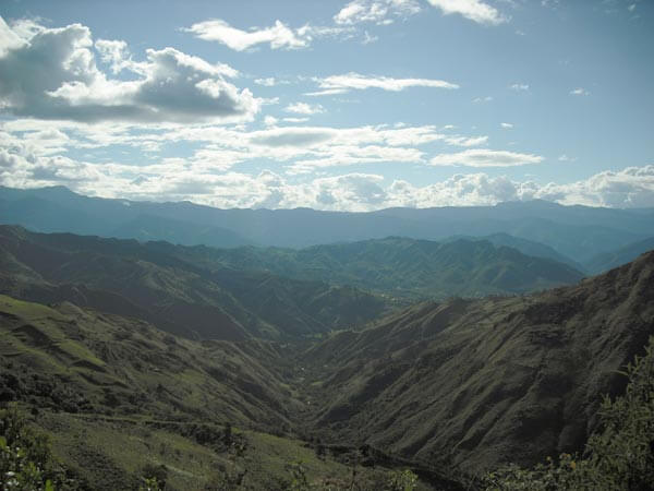 The view at Yves Zehnder's Sacred Sueños farm in Vilcabama, Ecuador. Photo by Jenn Hardy.
