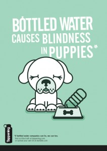 Bottled water causes blindness in puppies - via Tappening