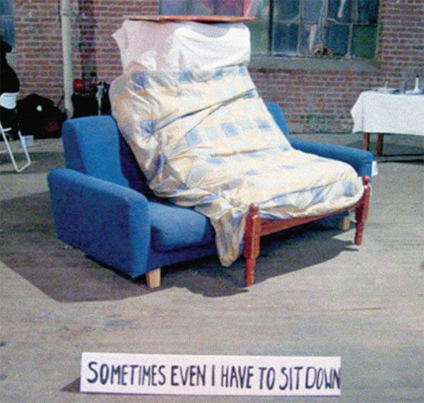 """Sitting Bed"" (2006) by Life of a Craphead. Photo courtesy the artists."
