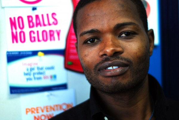 John Mathenke, a Nairobi sex worker, was diagnosed with HIV in early July. He has gone public with his story and started an organization to help other young gay sex workers avoid contracting the disease. Photo by Siena Anstis.