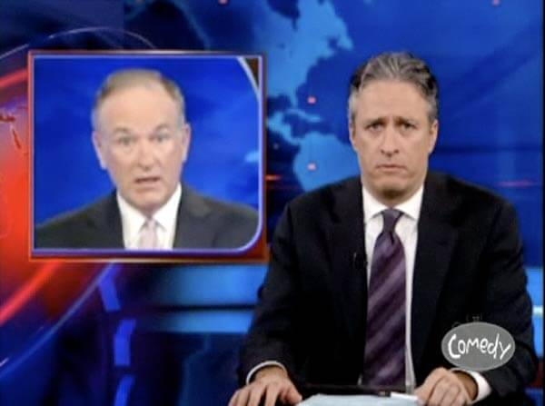 Bill O'Reilly and Jon Stewart, The Daily Show vs. Fox News