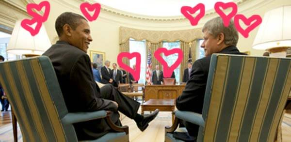 Barack Obama and Stephen Harper, September 16, 2009.