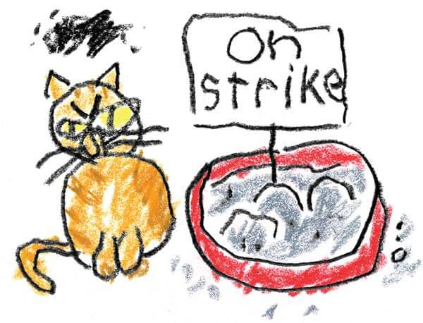 Solidarity forever. Or until the litterbox is full. Illustration by David Donald.