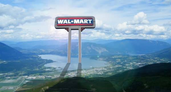 Wal-Mart: paving paradise and putting up parking lots since 1962.