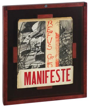 Le Refus Global original manifesto (seen here in an auction photo)