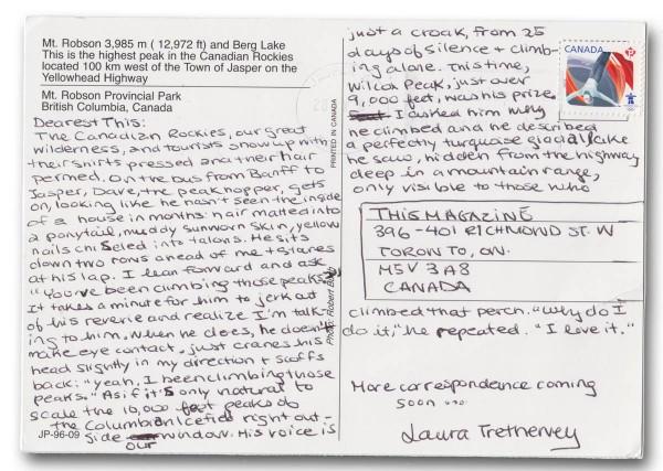 Postcard from Jasper - Reverse