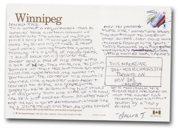 Winnipeg, Manitoba - Back