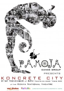 Poster for Pamoja's new dance work, Koncrete City.