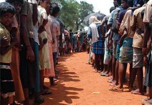 Tamil civilians now living in Sri Lankan internment camps. Photo by Ho New/Reuters.