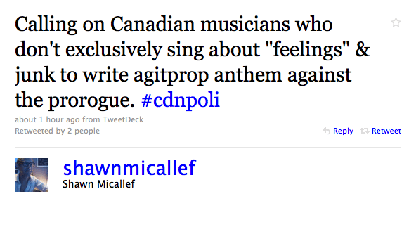 In Summary: Let's Write An Agitprop Anthem