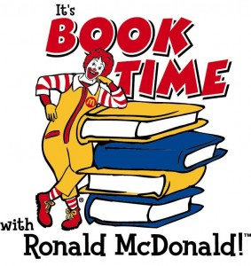 It's book time with Ronald McDonald.