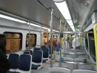Inside the new Canada Line SkyTrain cars.