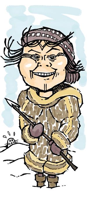 Aaju Peter. Illustration by David Donald.