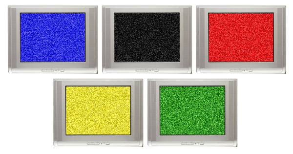 Jacques Rogge's bank of Olympic televisions (artist's impression).