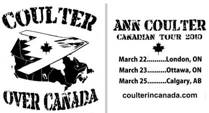 Ann Coulter's Canadian tour T-shirt.