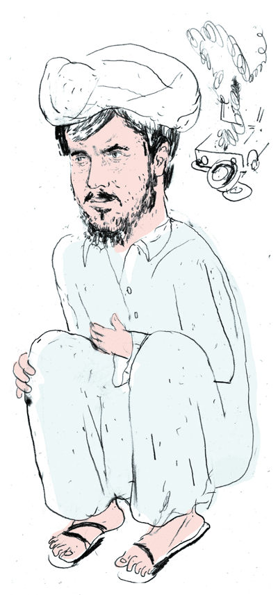 Globe and Mail Afghanistan correspondent Graeme Smith. Illustration by Peter Mitchell.