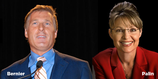 Maxime Bernier and Sarah Palin