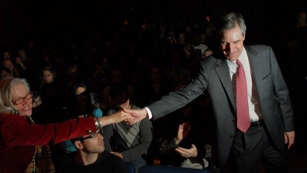 Michael Ignatieff greeting listeners at a speech on the environment at Laval University, November 26, 2009. Creative Commons Photo by Robert J. Galbraith