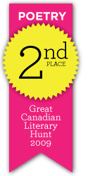 Great Canadian Literary Hunt - Poetry, 2nd place