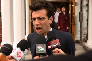 Jay Baruchel in The Trotsky. Copyright Alliance Films.