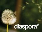 Diaspora* Logo - dandelion seeds drifting away.