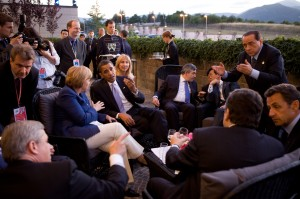G8 Leaders meet in L'Aquila, Italy, July 8, 2009.