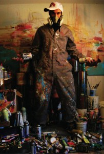 Stefan Thompson in his Ottawa studio. Image courtesy the artist.
