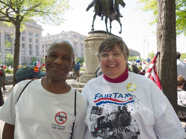 Jabari Zakiya, left, and Marilyn Rickert.