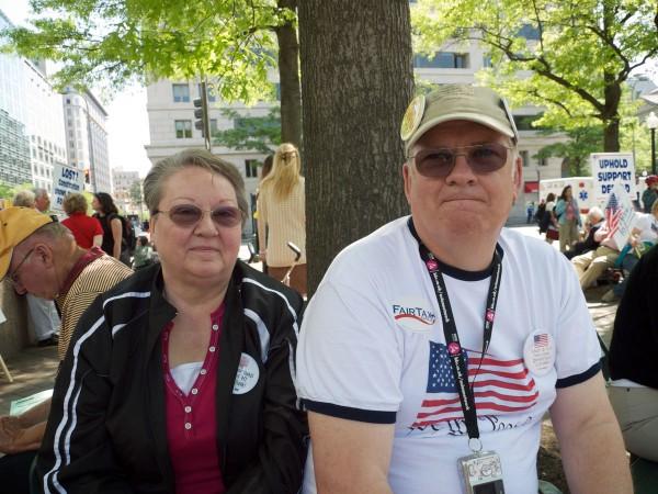 Sharon, left, and Richard.