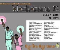 Blockorama 12  program of events. Courtesy of Blackness Yes!