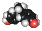 Computer model of a Bisphenol-A molecule.