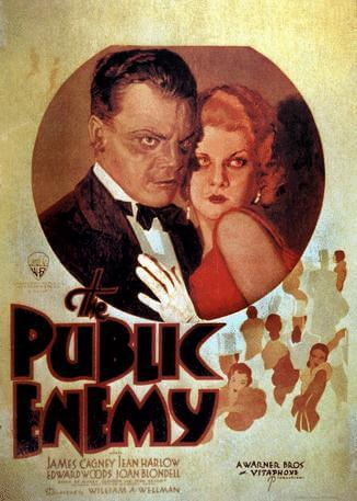 "Movie poster for ""The Public Enemy"" with James Cagney"