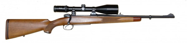 Modern hunting rifle.