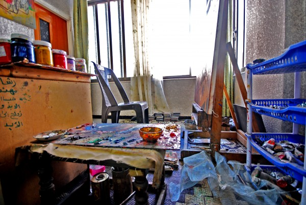 Bassam and Zahra's studio in Damascus.