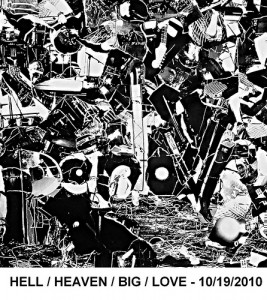 Cover of Parlovr's new EP, Hell/Heaven/Big/Love