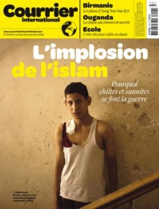 Cover of Courrier International for the week of November 18, 2010