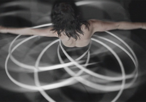 Dancer Rebecca Halls in a still from director Marites Carino's short film HOOP. Image courtesy Marites Carino.