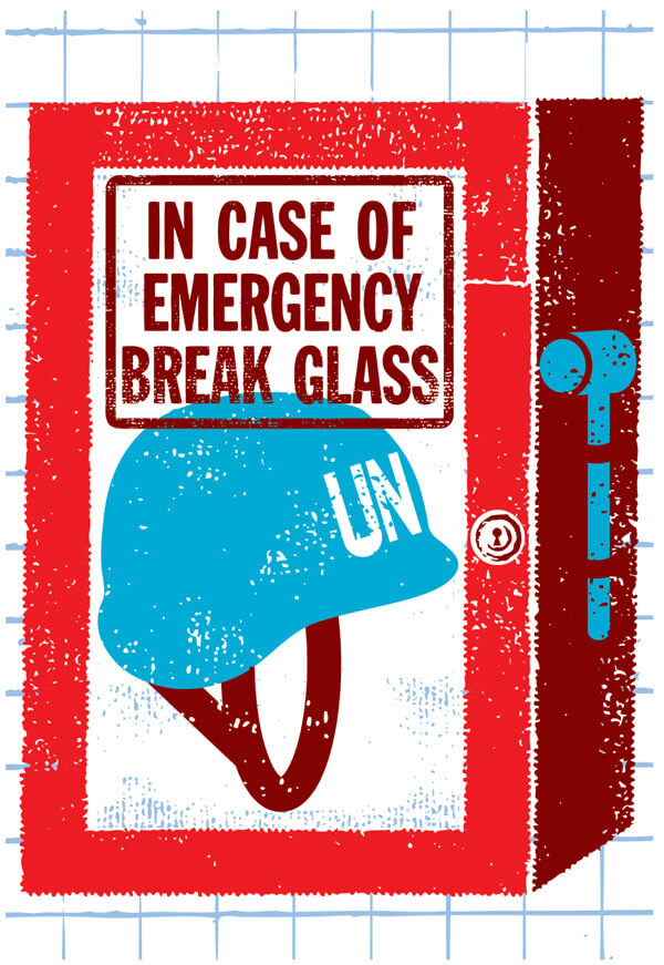 United Nations Emergency Peace Service. Illustration by Matt Daley.