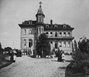 Institution out of time: A Catholic convent and boarding school circa 1880. Photo courtesy Canadian National Archives.