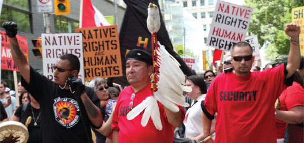 Indigenous Day of Action against the G20 in Toronto, June 2010. Photo by Velcrow Ripper.